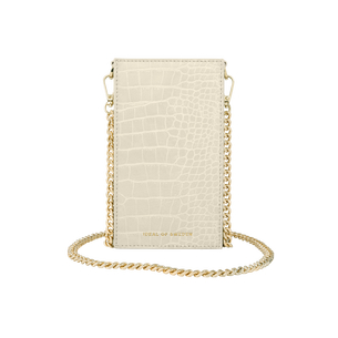 Product IDEAL OF SWEDEN τσαντάκι Ella Phone Pouch Cream Beige Croco IDPPSS21-275 base image