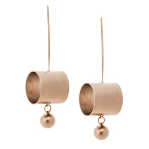 Product Σκουλαρίκια SENZA Brass Gold Plated base image
