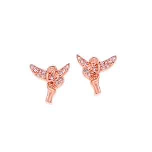 Product Σκουλαρίκια SENZA Silver Rose Gold Plated base image