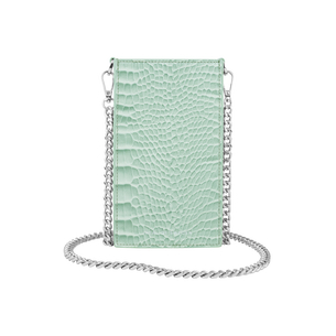 Product IDEAL OF SWEDEN τσαντάκι universal Ella Phone Pouch Mint Croco IDPPSS21-261 base image